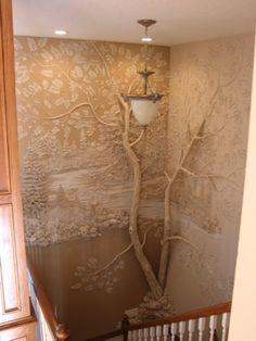 Coup de cœur pour ce sculpteur Tom Moberg, né à Austin, au Texas, le 13 Avril 1945. Sculpteur de paysage, il intègre la nature de façon étonnante dans les