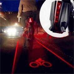 les bicyclettes 5led 2 laser arrière vélo logo lumière lampe de sûreté super cool pour owimin intelligent cyclisme vélo accessoires - Prix pas cher - Cdiscount