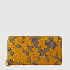 Gucci Arabesque GG Supreme zip around wallet