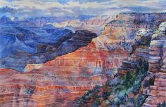 CUSTOM WATERCOLOR Painting  by OlenaBacasArt  Would love to paint some of my pictures of the Grand Canyon like this