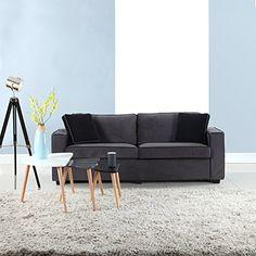 Modern Two Tone Colorful Velvet Fabric Living Room Sofa