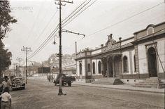 Estação Ferroviária de Mariano Procópio, Rua Mariano Procópio, nº 2015, em setembro de 1963 (foto autoria Jorge Couri).
