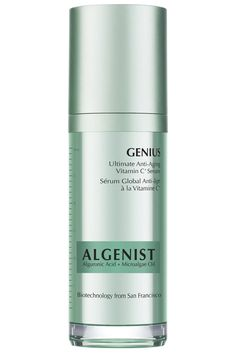 To even out skin tone and brighten a dull texture, look for products with vitamin C, the holy grail for fading brown spots. Algenist's serum is also packed with alguronic acid and micro-algae oil, which help tighten and firm skin and replenish moisture. Algenist Genius Ultimate Anti-Aging Vitamin C+ Serum, $115, algenist.com. Courtesy Algenist  - HarpersBAZAAR.com