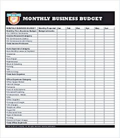 Monthly Budget Calculator Template   Monthly Budget Template