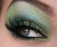 st. pattys! {{I would use white eyeshower instead on the eye brow. the green may be to much for me but I love this makeup look!}}