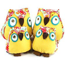 Fun Owl Cuddle Cushion Stuffed Plush Soft Toy Animal Gift