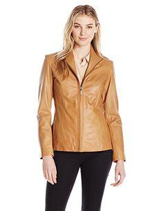 Cole Haan Women's Classic Leather Jacket -- You can find out more details at the link of the image.