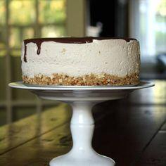 Malted Milk Cheesecake with Chocolate Ganache and a Pretzel Crust