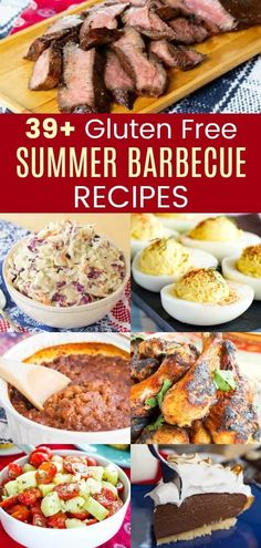 39 Gluten Free Summer Barbecue Recipes - the best appetizers, grilled main dishes, side dishes, salads, and even desserts for your summer picnics and parties. Includes some low carb and paleo options too! Gluten Free Appetizers, Best Appetizers, Barbecue Recipes, Grilling Recipes, Cooking Recipes, Side Dishes For Bbq, Main Dishes, Gluten Free Hot Dogs, Dairy Free