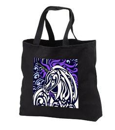 tb_23185_1 Art of Jolie E Bonnette Creatures - Cloud Runner Unicorn Tribal Fantasy - Tote Bags - Black Tote Bag 14w x 14h x 3d 3dRose http://www.amazon.com/dp/B005CQD0RW/ref=cm_sw_r_pi_dp_DZ0nub1QJ7RMQ