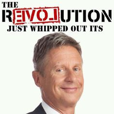 My new favorite pic of the Presidential campaign, LOL. Go Gary Johnson!