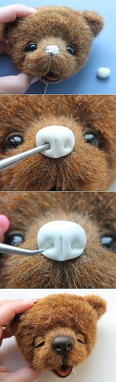 как слепить нос