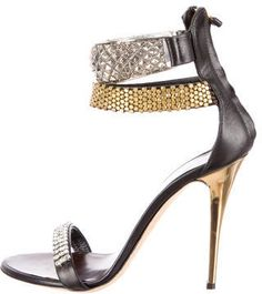 Giuseppe Zanotti Stud and Crystal Embellished Sandals. Find more  DESIGNER SHOES in our Instashop on the blog:  http://www.kimlud.com/blogs/style/116292741-instashop