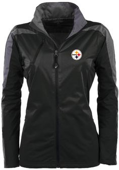Antigua Pitt Steelers Womens Black Discover Light Weight Jacket