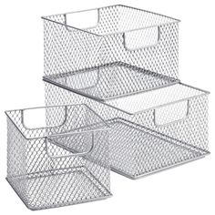 Add a touch of urban sophistication to your pantry or kitchen with our Omaha Stacking Bins. The epoxy-coated steel construction and cutout handles make these bins perfectly practical. Use them side-by-side or stack them on your pantry shelves to contain everything from bottles and cans to packaged goods.