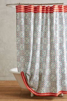 Piastrella Shower Curtain Sky One Size