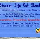 Use this quick and easy printable to attach to the inside of your classroom door for students to sign out and in when going to different placed dur...free