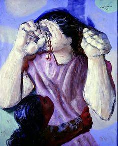 Cândido Portinari, Mulher chorando  on ArtStack #candido-portinari #art
