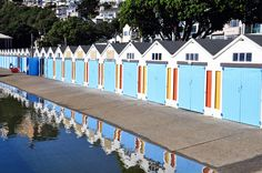 Boat Sheds - Oriental Parade | Flickr - Photo Sharing!