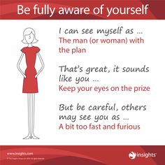 Be fully aware of yourself - Insights Discovery Fiery Red Colour Energy