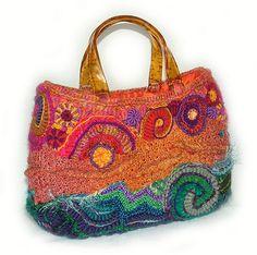 Freeform crochet/knitting