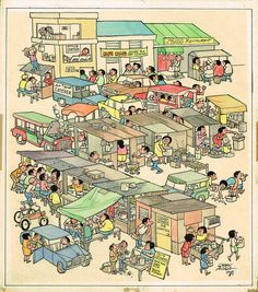 Slice Of Life Sidewalk Bistros by Larry Alcala, in Jovi Neri& Larry Alcala Comic Art Gallery Room Life Comics, Free Desktop Wallpaper, Slice Of Life, Life Drawing, Cartoon Styles, Bistros, Larry, Wall Canvas, Art Reference