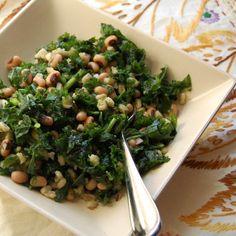 Kale Salad with Blackeyed Peas and Barley