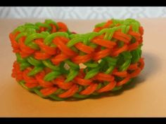 Rainbow Loom DOUBLE FUSION Bracelet. Designed and loomed by Cheryl Mayberry. Click photo for YouTube tutorial. 06/14/14.