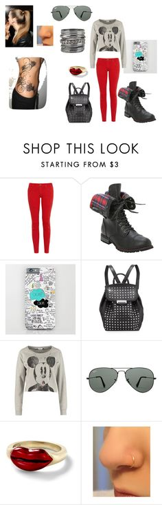 """""""16"""" by prettyplease-mua ❤ liked on Polyvore featuring Current/Elliott, Alexander Wang, ONLY, Ray-Ban, Alison Lou, maurices, disney and crazyfordisney"""