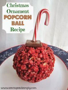 SavingSaidSimply.com Christmas Ornament Popcorn Ball Recipe