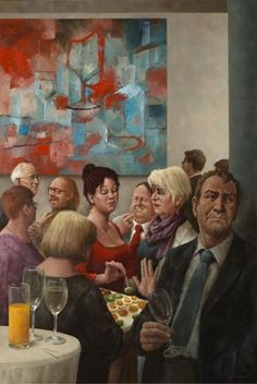 made by: Marius van Dokkum (from Holland), 'Moderne tijd' (Modern times) - Oil Painting