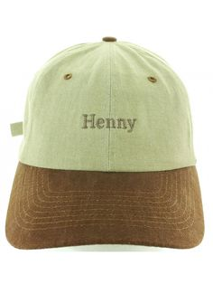 91647aa6a8a Henny Hat Embroidered in USA Baseball Hat - Khaki.brown - CG17Y7KDTMD