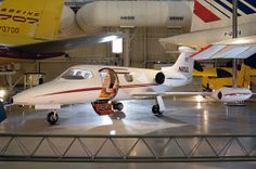 This Lear Jet (N802L), the second of this type built and the first production model 23, completed its maiden flight of 1 hour, 30 minutes on March 5, 1964.