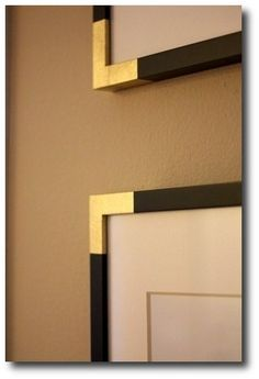 paint frame corners gold   Add Gold Corners To Basic Painted Frames - athoughtfulplaceblog.com