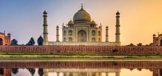 Taj Mahal at Agra, India. Beautiful Places In The World, Oh The Places You'll Go, Places To Travel, Places To Visit, Amazing Places, Agra, Jaipur, Le Taj Mahal, World Cities