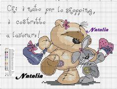 Cross Stitch Pillow, Cross Stitch Charts, Cross Stitch Patterns, Cross Stitching, Cross Stitch Embroidery, Fizzy Moon, Moon Bear, Diy Broderie, Blue Nose Friends