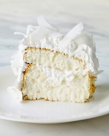 This light, flavorful dessert, filled and topped with seven-minute frosting and coconut, is a little slice of heaven.