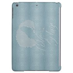 Love is in The Hair . Maze Background leather look iPad Air Covers