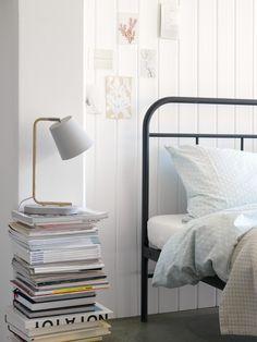 Micasa Schlafzimmer mit Tischleuchte MOIRA & Bett MARECHAL Bed, Bedroom