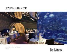 O hotel Burj Al Arab é localizado em Dubai e é o único do mundo a ter 7 estrelas. Ele foi projetado por Tom Wright da WS Atkins PLC e tem aproximadamente 320 metros quadrados. O restaurante Al Mahara (foto) será comandado pelo chef inglês Nathan Outlaw e inaugurado em outubro de 2016.