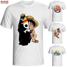 47495311a Brand T Shirt Men T-shirt Funny Luffy T Shirts Clothing Mens Anime One  Piece Tee Shirt Zoro And Nami White O-neck Printed Tshirt