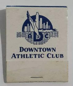 Home of the Heisman Memorial Trophy. Reverse strike matchbook. The Downtown Athletic Club. Restaurant, health club, tennis, swimming pool. | eBay!