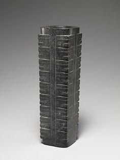 Ritual Object (Cong)  Period: Neolithic period, Liangzhu culture (ca. 3200–2000 B.C.)  Date: ca. 2400 B.C.  Culture: China  Medium : Jade (nephrite)