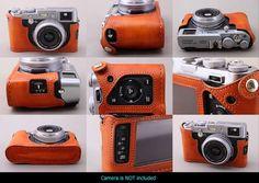 Fujifilm X100 + Aki Asahi's custom made leather cases.