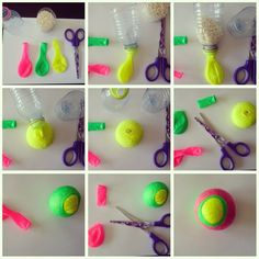Inma Martín Prieto ( Malabares // I believe these are for juggling, but could also be diy stress balls? Diy Crafts For Your Room, Fun Diy Crafts, Crafts For Kids To Make, Craft Activities For Kids, Projects For Kids, Arts And Crafts, Diy Poi, Counseling Crafts, Balle Anti Stress
