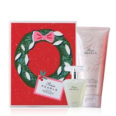 Timeless and classic, this radiant scent glimmers with shimmering magnolia, white pepper and creamy rosewood for a warm and dreamy experience. 2-piece boxed gift set includes:• Rare Pearls Eau de Parfum, 1.7 fl. oz.• Rare Pearls Body Lotion, 6.7 fl. oz. Avon Perfume, Perfume Gift Sets, Holiday Gift Guide, Holiday Gifts, Holiday Candles, Perfect Christmas Gifts, Christmas Ideas, Pearls, Avon Products