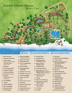 Antigua Resorts | Map Layout Sandals Grande Antigua