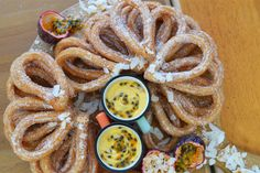 Benjamina's tropical churros were beautifully crispy. Here's the recipe from The Great British Bake Off