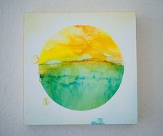 Delighted View  Alcohol Ink Painting  Abstract art di islandgirlsj