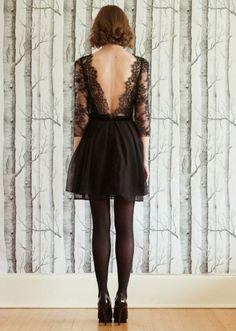 Sarah Seven: Mrs Black 2013 backles black lace